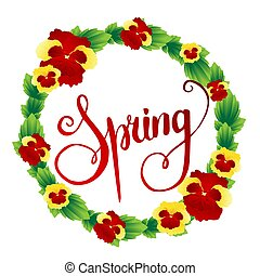 Spring background with flowers. Vector illustration