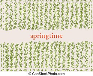 spring background with plant