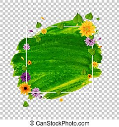 Spring Banner With Flower And Leaf