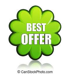spring best offer green flower label