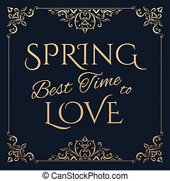 Spring Best time to love golden lettering.