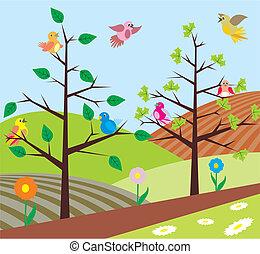 spring - birds singing