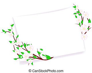 spring blossom abstract frame