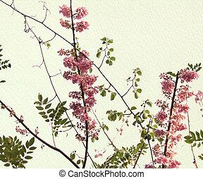 Spring Blossom on Handmade Paper