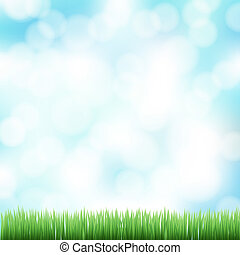 spring bokeh background with green grass