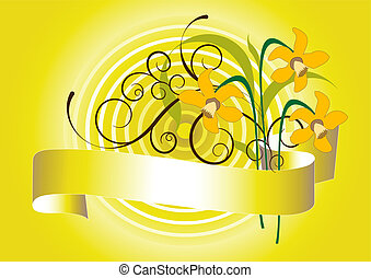 Spring bouquet of  daffodil