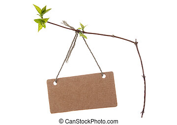 Spring branch with blank tag