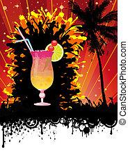 Spring Break Beach Cocktail Party - Flyer design for beach...