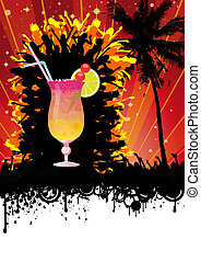Spring Break Beach Cocktail Party - Flyer design for beach...