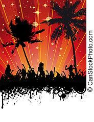 Spring Break Beach Party - Flyer design for beach party. Eps...