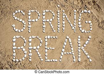 Spring break - beach, sand, stones