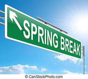 Spring Break concept.