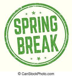 Spring break sign or stamp