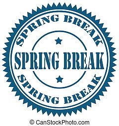 Spring Break-stamp