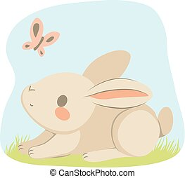 Spring Bunny Butterfly