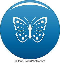 Spring butterfly icon blue vector