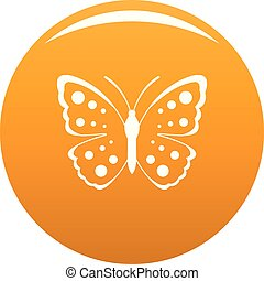 Spring butterfly icon vector orange