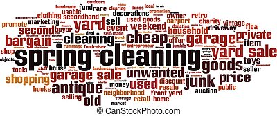 Spring cleaning word cloud