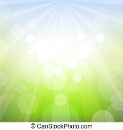 Spring Background With Bokeh, Vector Illustration