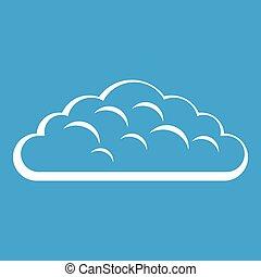 Spring cloud icon white