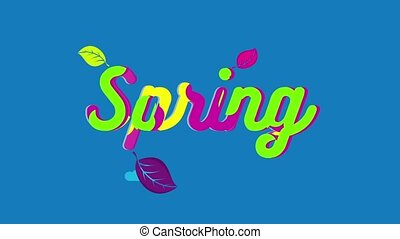 Spring Color Text