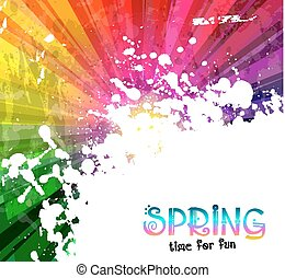 Spring Colorful Explosion of colors background for your party flyers