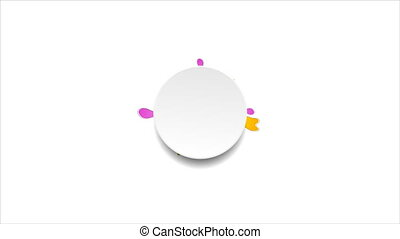 Spring colorful flower and blank circle video animation -...