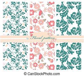 Spring colorful flowers pattern