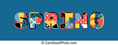 Spring Concept Word Art Illustration