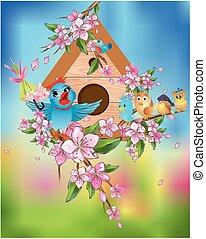 Spring concert of birds