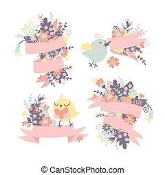 Spring congratulatory background.