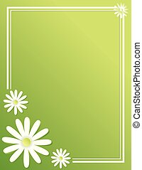 Spring Daisy Border Poster Background Template