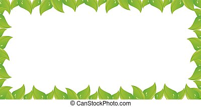 Spring design with green leaves