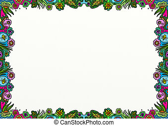 Spring Doodle Page Border Decoration