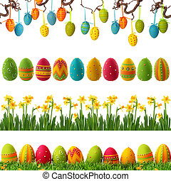 Spring easter collection - Spring collection with colorful...