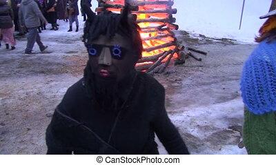 mardi gras celebration devil mask - spring equinox mardi...