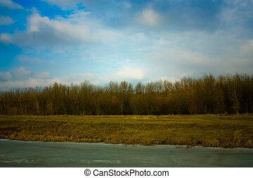 Spring Evening Landscape