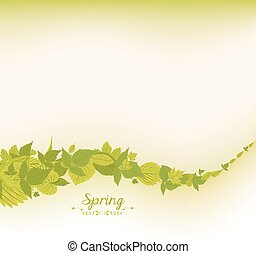 spring falling leaves background