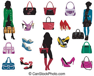 Spring fashion - Fashion elements on the white background