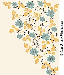 Spring floral background with place for text