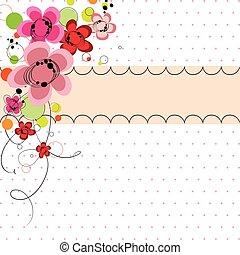 Spring floral banner background
