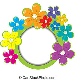 Spring floral frame with place for your text