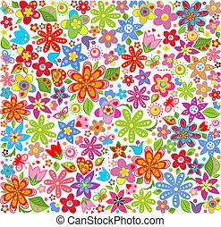Spring floral wallpaper