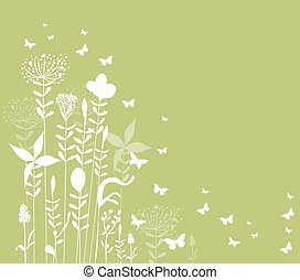 spring florals background