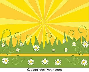 spring flower background, element f