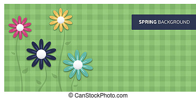 Spring Flower Background - Spring background with space for...