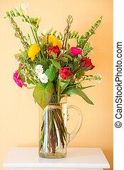 Spring flower bouquet in a vase