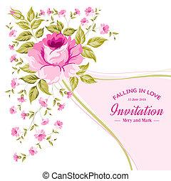 Spring flower for vintage card.