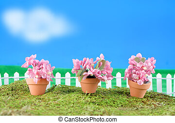 spring flower miniatures