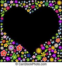 spring flower valentine vector illustration